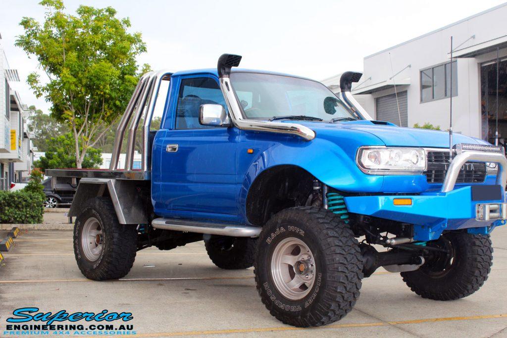 Four Way Side Loader Forklift Mitsubishi Rbm2025k Series: Toyota 80 Series Landcruiser Ute Chop Blue #82191